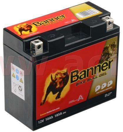 Banner baterie gelová 12V, GT12B-4, 10Ah, 185A, BANNER Bike Bull GEL 150x69x130 GEL 510 01