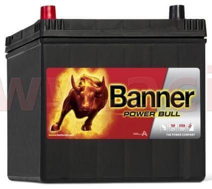 Banner 60Ah baterie, 510A, levá BANNER Power Bull 233x173x203(225) P6069