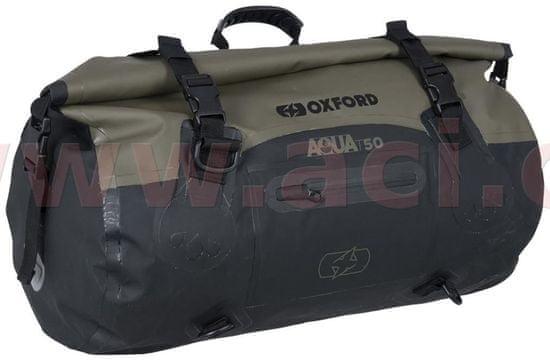 Oxford vodotěsný vak Aqua T-50 Roll Bag, OXFORD (khaki/černý, objem 50 l) OL402