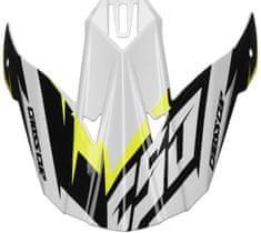 Cassida kšilt pro přilby Cross Cup Two, CASSIDA (bílý/žlutý fluo/černý/šedý) PEAK WHITE YELLOW SC-15 TWO