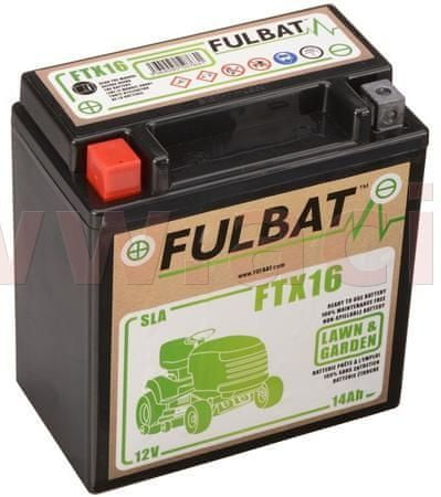 Fulbat baterie 12V, YTX16-BS SLA (Husquarna), 14Ah, 230A, levá, bezúdržbová MF AGM, 150x87x161, FULBAT (aktivovaná ve výrobě) 550763
