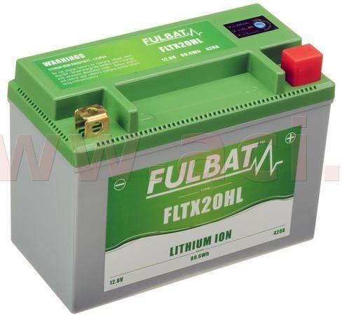Fulbat lithiová baterie LiFePO4 YTX20HL-BS FULBAT 12V, 7Ah, 420A,1,12 kg,175x87x130mm nahrazuje typy:(CBTX20-BS,CB16-B,CB18-A,C50-N18A-A) 560513