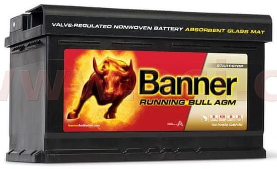 Banner 80Ah baterie, 800A, pravá BANNER Running Bull AGM 315x175x190 AGM58001
