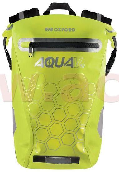 Oxford vodotěsný batoh AQUA V12, OXFORD (žlutá fluo, objem 12 L) OL693