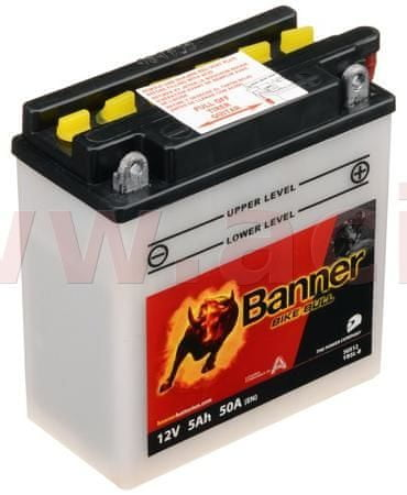 Banner baterie 12V, YB5 l-B, 5Ah, 50A, BANNER Bike Bull 120x60x130 50512