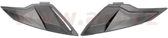 Cassida čelní kryty vrchní ventilace pro přilby Jet Tech, CASSIDA (černé matné, pár) M142-1002