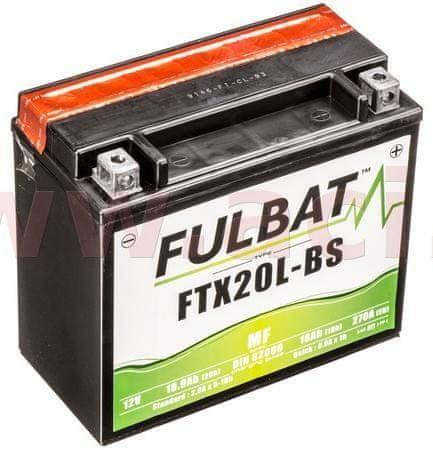 Fulbat baterie 12V, YTX20L-BS, 18Ah, 270A, bezúdržbová MF AGM 175x87x155, FULBAT(vč. balení elektrolytu) 550610