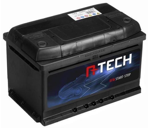 A-tech 75Ah EFB baterie START-STOP, 720A, pravá A-TECH EFB 278x175x175 57508