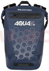 Oxford vodotěsný batoh AQUA V12, OXFORD (tmavá modrá, objem 12 L) OL692