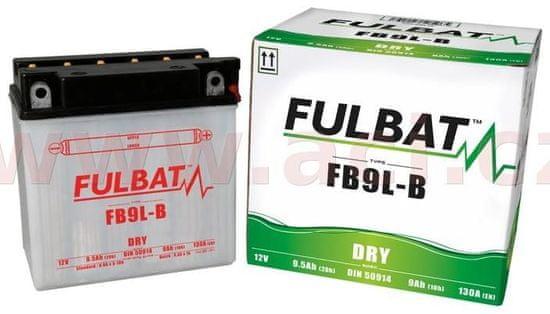 Fulbat baterie 12V, YB9L-B, 9Ah, 130A, konvenční 135x75x139 FULBAT (vč. balení elektrolytu) 550599