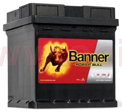 Banner 42Ah baterie, 390A, pravá BANNER Power Bull 175x175x190 P4208