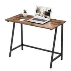 Artenat Pracovní stůl Lera, 100 cm, hnědá / černá
