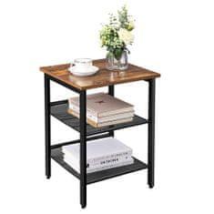Artenat Odkládací stolek Ales, 55 cm, hnědá