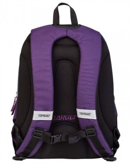 Target 3 Zip Duel nahrbtnik, Violet Melange