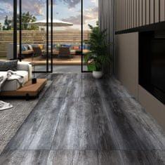 Greatstore Podlahová krytina PVC 5,02 m² 2 mm samolepicí lesklá šedá