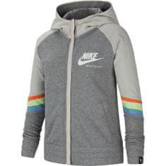 Nike bluza dziewczęca Sportswear Heritage, XS szara