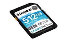Kingston SDXC 512GB Canvas Go Plus 170R C10 UHS-I U3 V30 (SDG3/512GB)