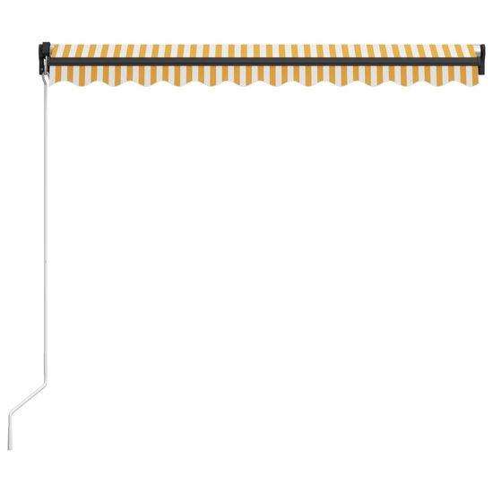 shumee sárga és fehér kézzel kihúzható napellenző 300 x 250 cm