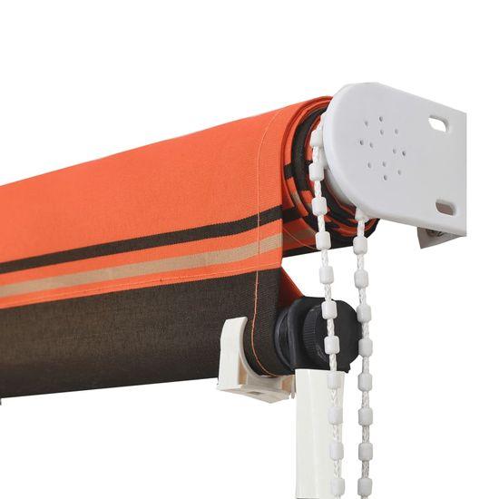 shumee narancssárga és barna feltekerhető napellenző 100 x 150 cm