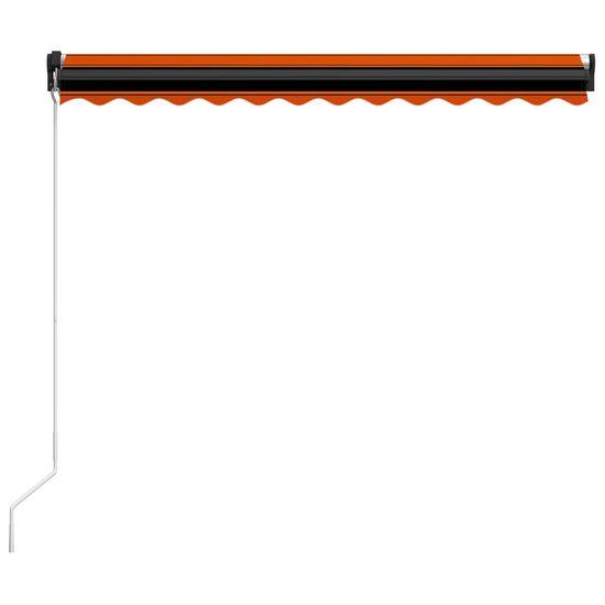 shumee narancssárga és barna kézzel kihúzható napellenző 300 x 250 cm