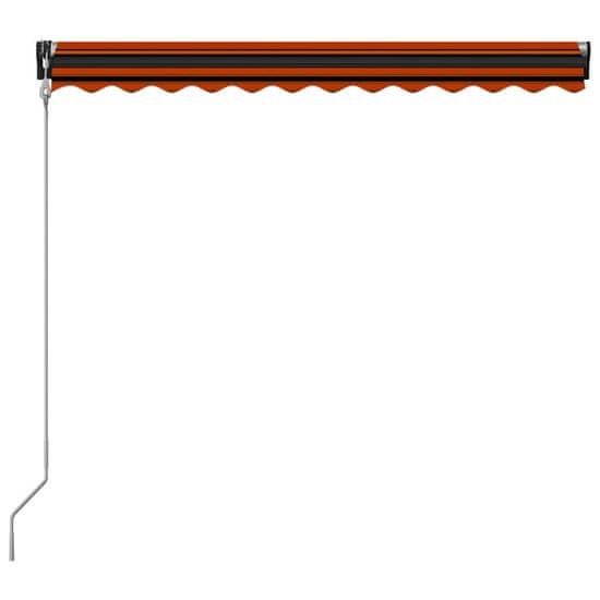 shumee narancssárga és barna automata napellenző 350 x 250 cm