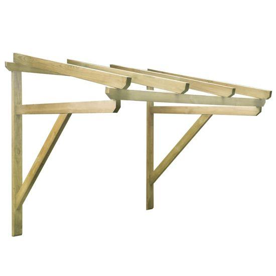 shumee Vchodová stříška 150 x 100 x 160 cm masivní borovice