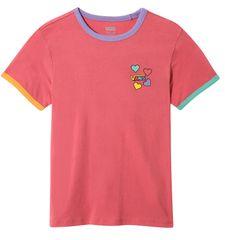 Vans dívčí tričko GR HEARTS V HOLLY BERRY/MUL S růžová