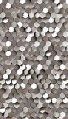 Grandeco Vliesová obrazová tapeta 3D Hexagony A34701, 159 x 280 cm, Collector, Murals, Grandeco
