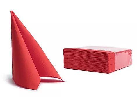 Pureba Soft Point servieti, 2-slojni, rdeča, 38x38, 50 kos/pak.