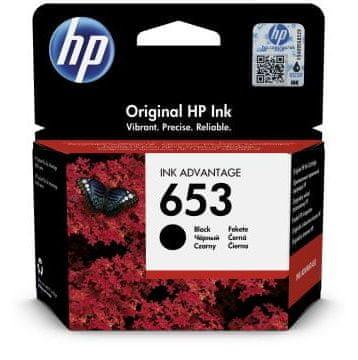 HP 653 kartuša, črna, 360 strani (3YM75AE)