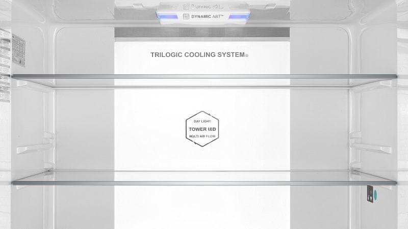Americká lednice Haier HTF-610DSN7 Trilogic Cooling System