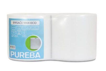 Pureba brisače Max Natur, 2-slojne, Eco, 800 list, 184 m, fi 6/25 cm, 2 roli/pak.