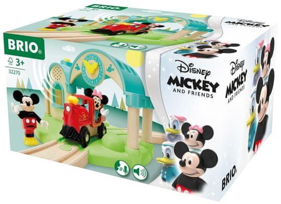 Brio WORLD 32270 Vasútállomás Mickey egér hangrögzítéssel