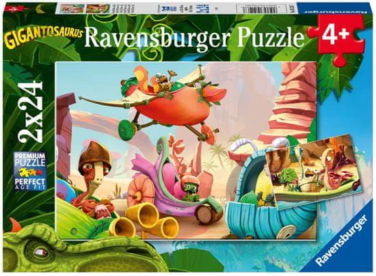 Ravensburger Puzzle 051267 Gigantosaurus, 2x24 delov