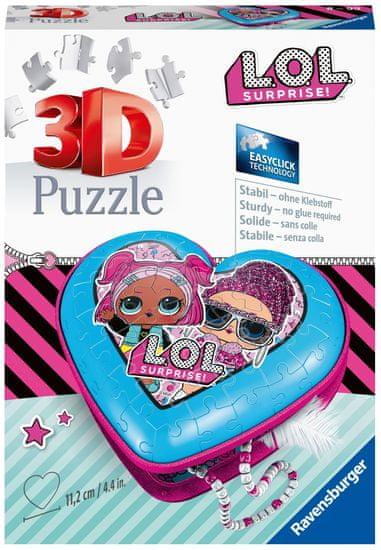 Ravensburger 3D Puzzle 112333 Srdce L.O.L. 54 dílků