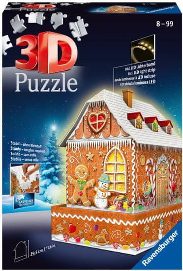 Ravensburger 3D sestavljanka Medena hiša ponoči, 216 delov