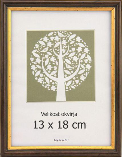 Karako Foto okvir 13x18 cm, plastika, namizni, stenski, 56 rjav