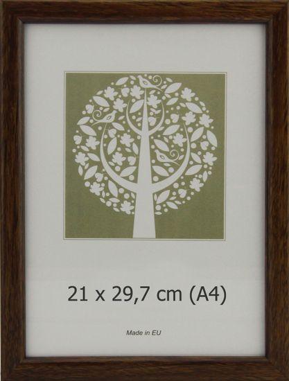 Karako Foto okvir 21x29,7 cm, plastika, stenski, 10-A rjav