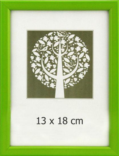 Karako Foto okvir 13x18 cm, plastika, namizni, stenski, 10-A zelen