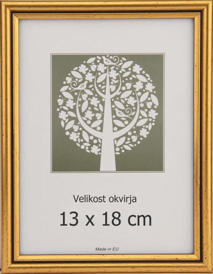 Karako Foto okvir 13x18 cm, plastika, namizni, stenski, 56 zlat
