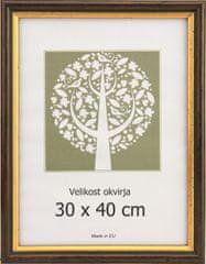 Karako Foto okvir 30x40 cm, plastika, stenski, 56 rjav