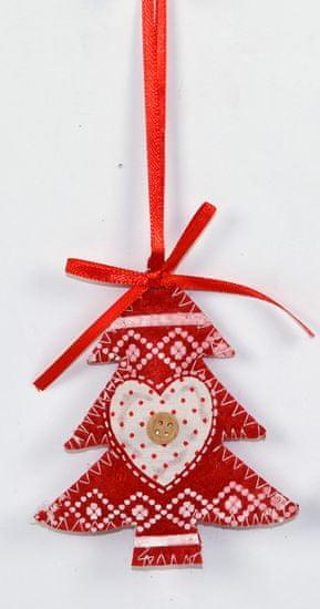 DUE ESSE božićno drvce, ukras, crvena, 2 komada