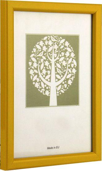 Karako Foto okvir 13x18 cm, plastika, namizni, stenski, 10-A rumena