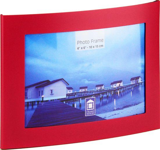 Karako Foto okvir 10x15 cm, kovina, namizni s tačko roza