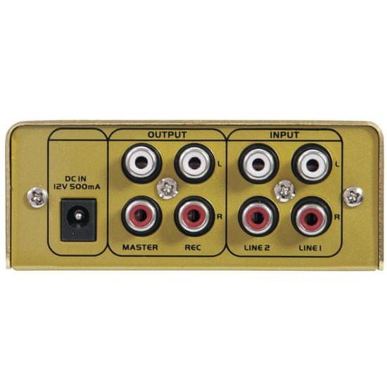 Omnitronic GNOME-202, 2-kanálový, zlatý
