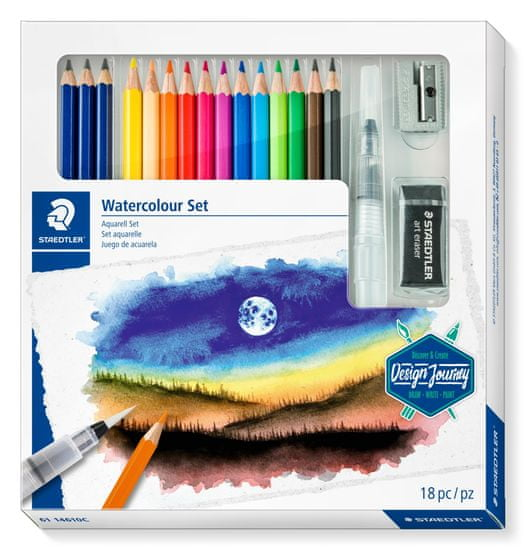 Staedtler Design Journey set za risanje in barvanje Watercolour, 18/1 (4)