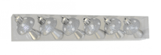 DUE ESSE komplet božičnih okraskov goba 6 kosov, plastika, višina 6 cm, srebrna