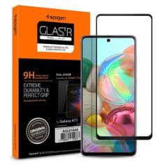 Spigen Full Cover zaščitno steklo za Samsung Galaxy A71, črna