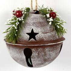 DUE ESSE komplet božičnih bunkic z vejico premer, 9 cm, rjava, 4 kosi