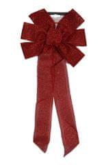 DUE ESSE božična mašnja z bleščicami, rdeča, 55 cm